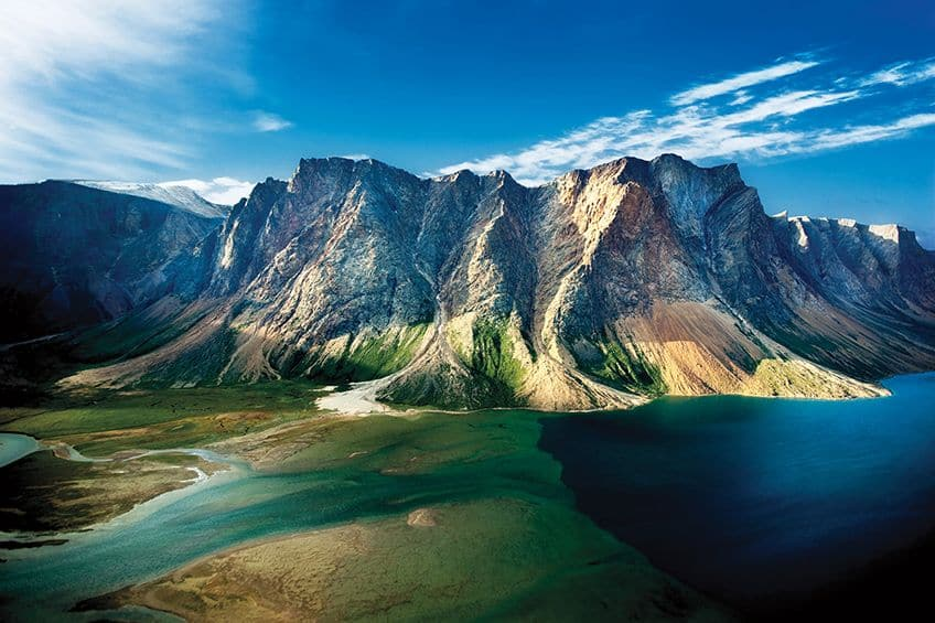 wide angle view of Torngat Mountains