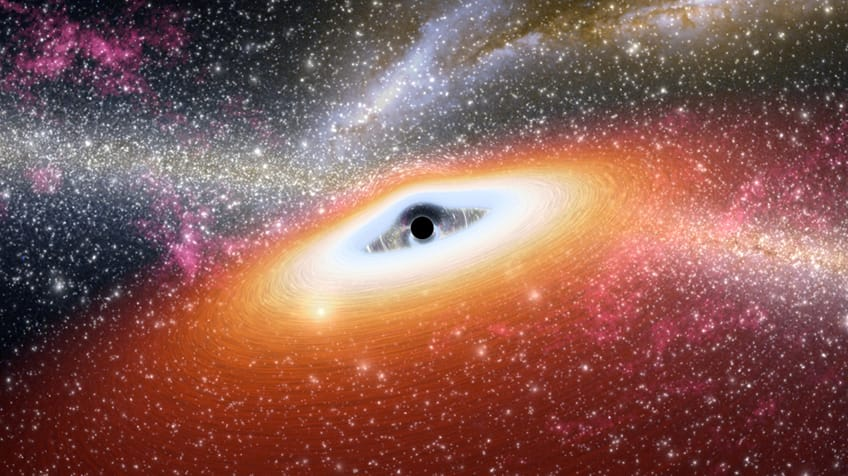 A black hole at the center of a star-rick galaxy