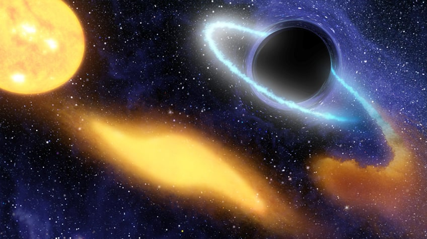 A black hole swallows up a star