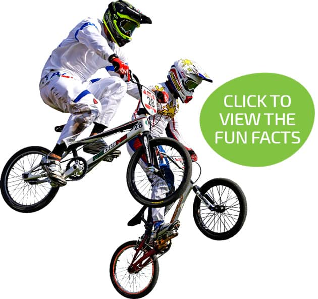 BMX riders - click to view the parallax infographic
