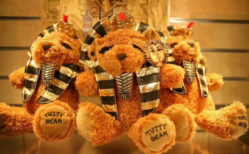 A trio of teddy bears, or