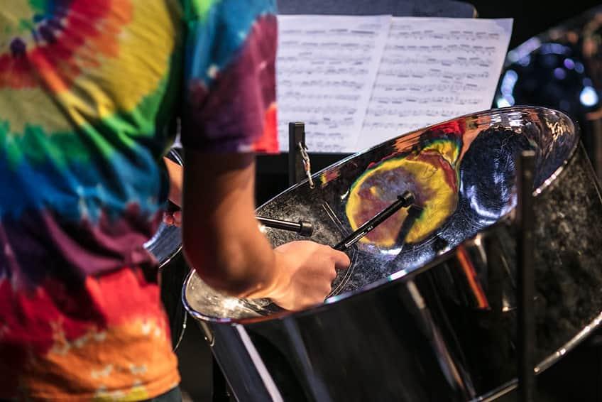a Caribana steelpan band