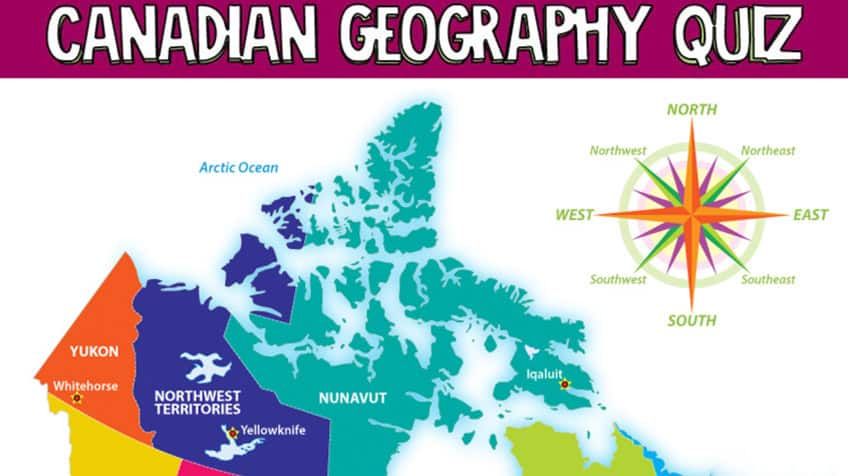 Canadian geography map quiz