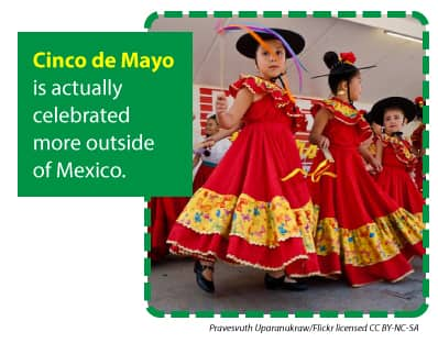Cinco de Mayo is actually celebrated more outside of Mexico