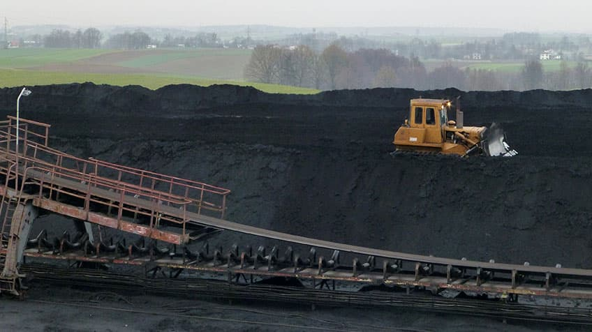 Coal mine shat in Poland.