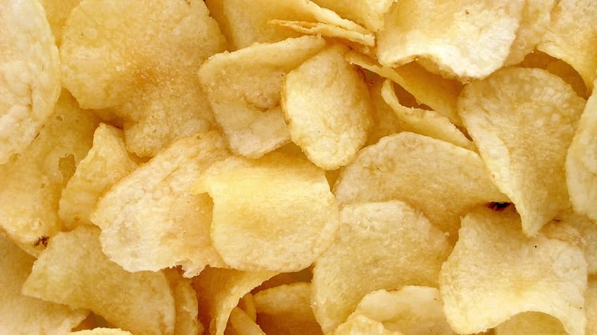 a whole bunch of potato chips