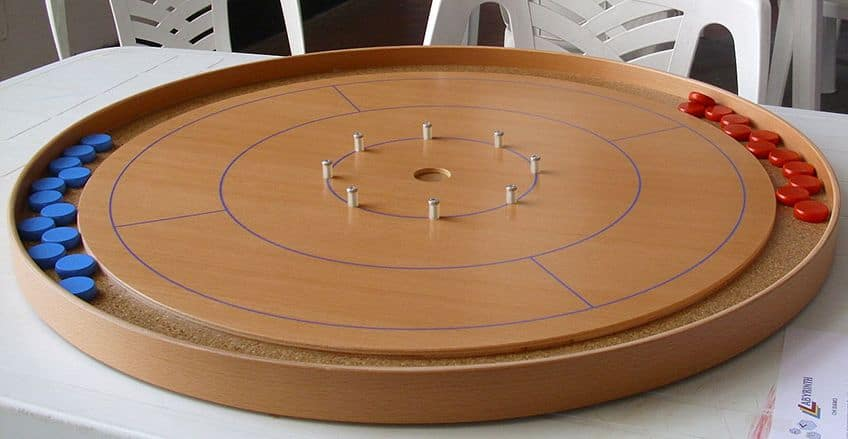a crokinole game board