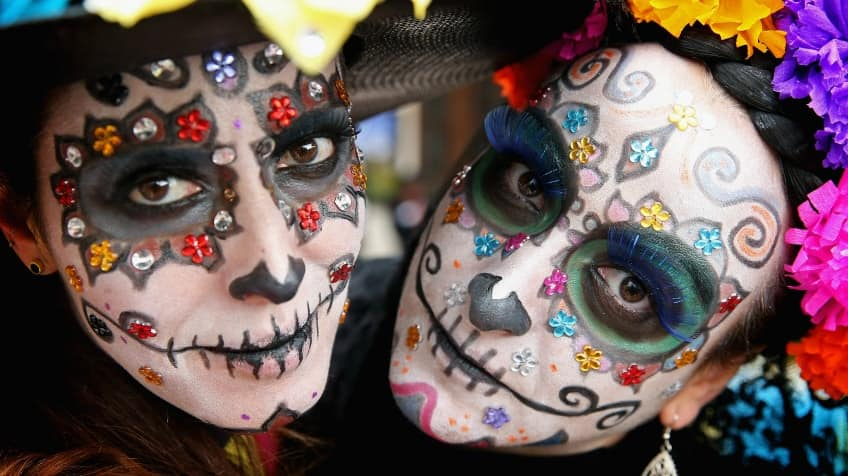 It's just an image of Day of the Dead Printable Masks throughout simple