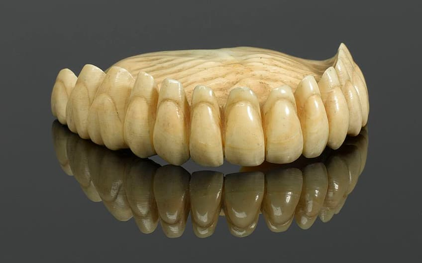 old dentures made of ivory