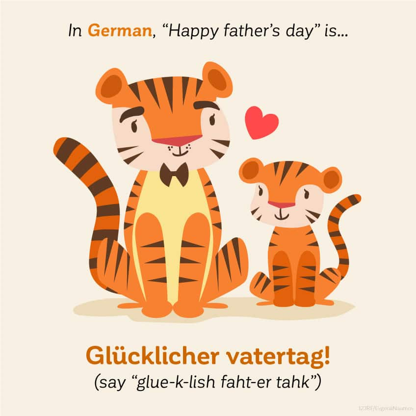 In German Happy Father's Day is glücklicher vatertag