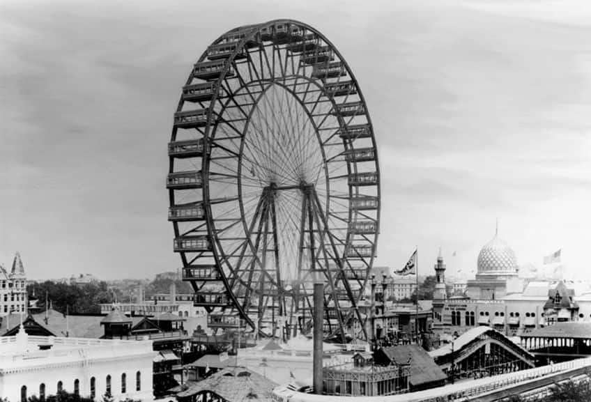 archive photo of the original Ferris wheel
