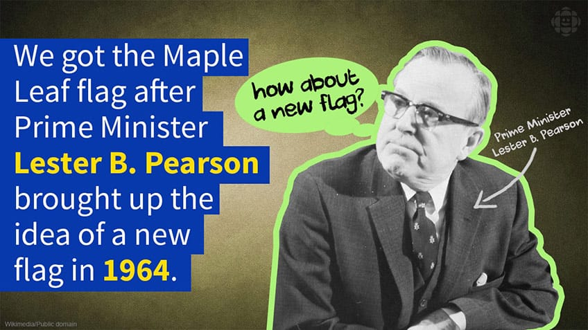 We got the Maple Leaf after Lester B Pearson decided to ask for a new design in 1964