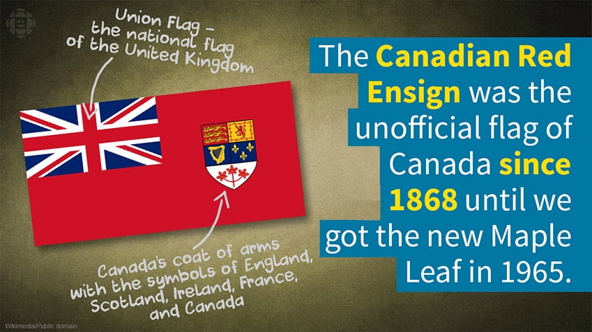 The Canadian Red Ensign was the unofficial flag of Canada until the Maple Leaf was picked in 1965