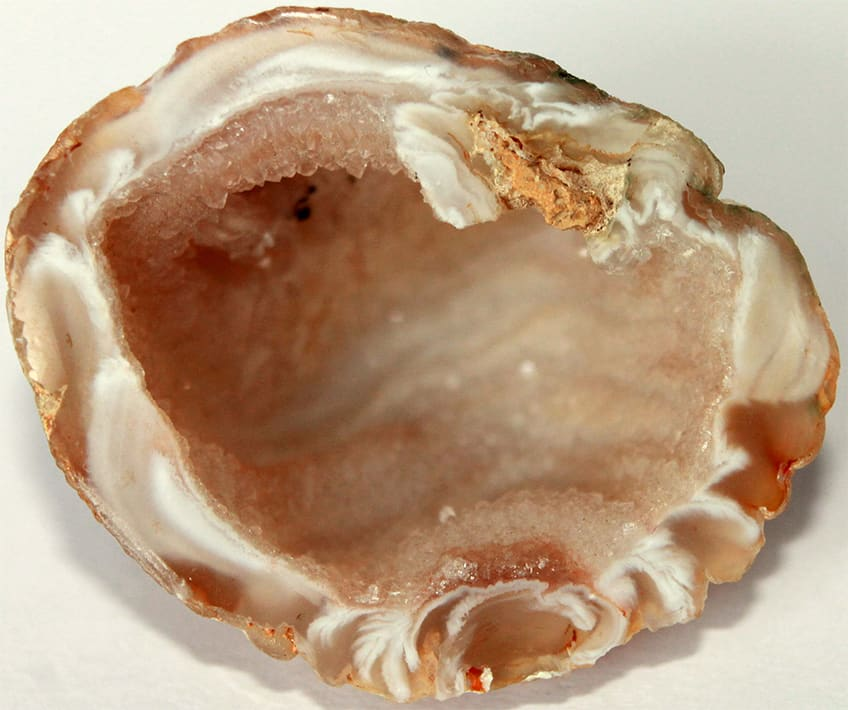 the interior of a geode