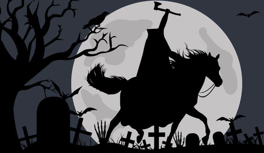 illustration of headless horseman