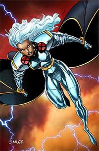 Storm comic book art