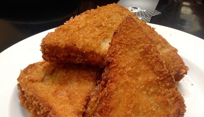 Deep fried grilled cheese