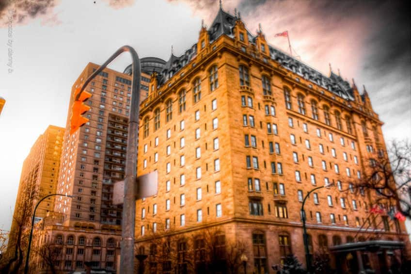 a scary photo of Fort Garry Hotel