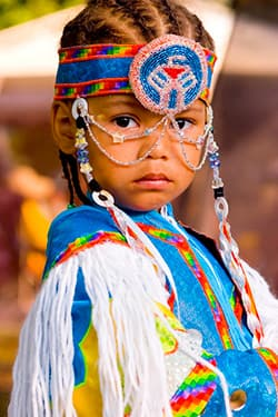 very young boy in regalia