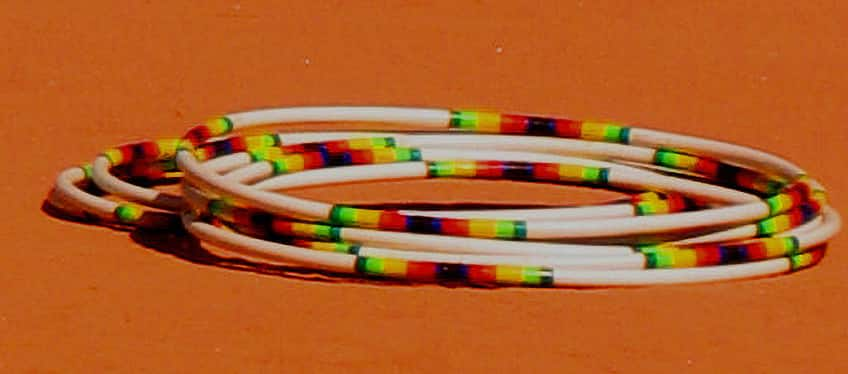 a pile of hoops