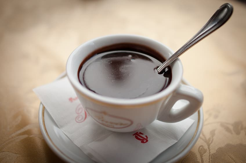 a cup of Italian hot chocolate