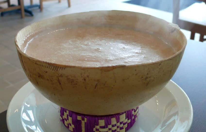 bowl of Mexican hot chocolate