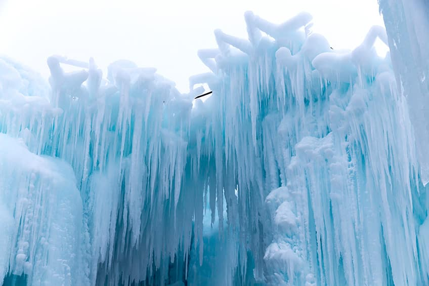 columns of icicles