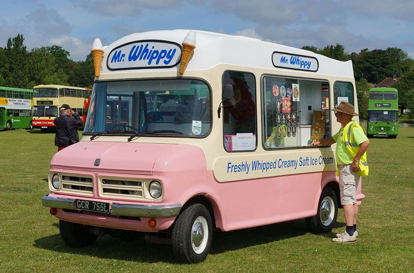 A Mr. Whippy ice cream truck
