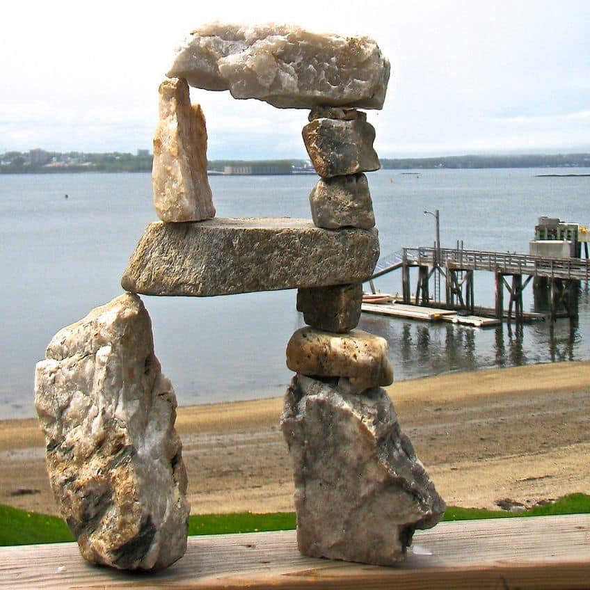 small stone inukshuk