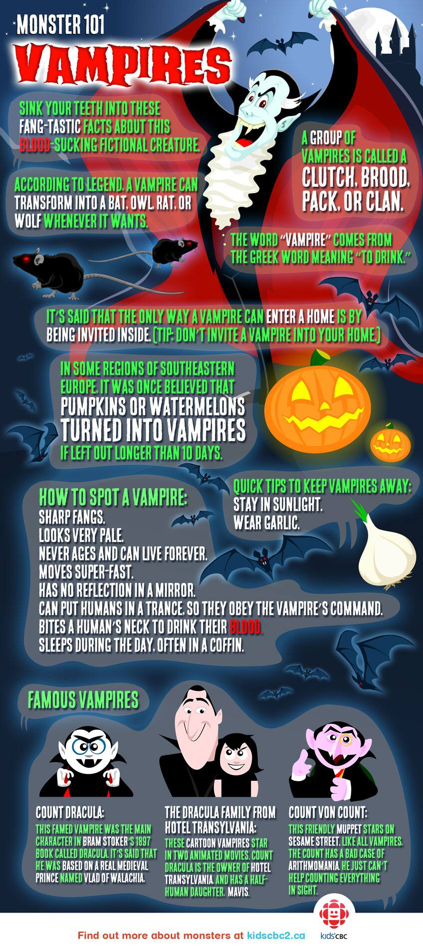 Monster 101: All about vampires | Explore | Awesome Activities ...