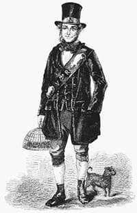 Historical drawing of Jack Black the rat catcher
