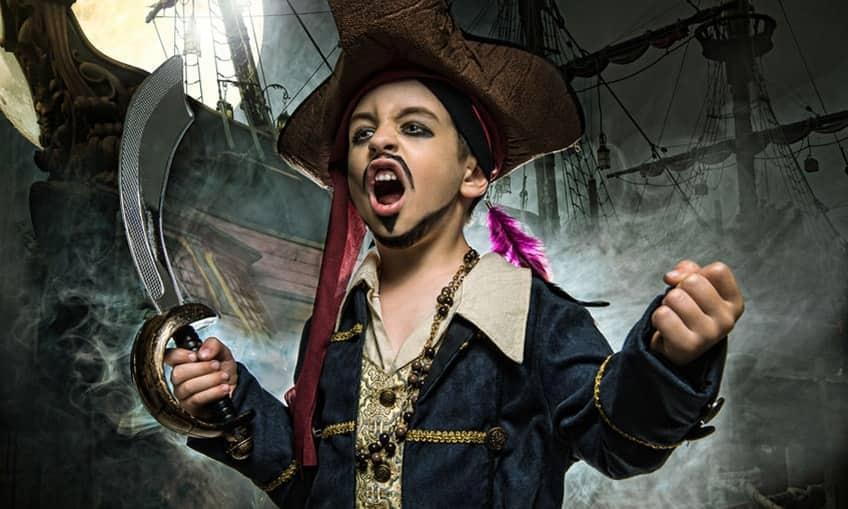 kid dressed up like a pirate