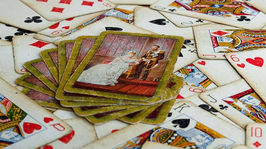 Vintage playing cards.