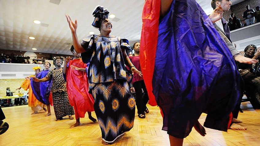 Women dancing during Kwanzaa.