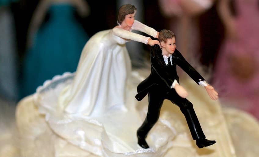 crazy wedding cake topper