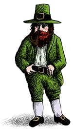 drawing of a leprechaun