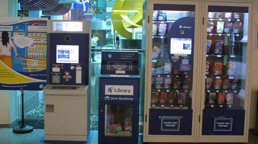 Vending machine for books!