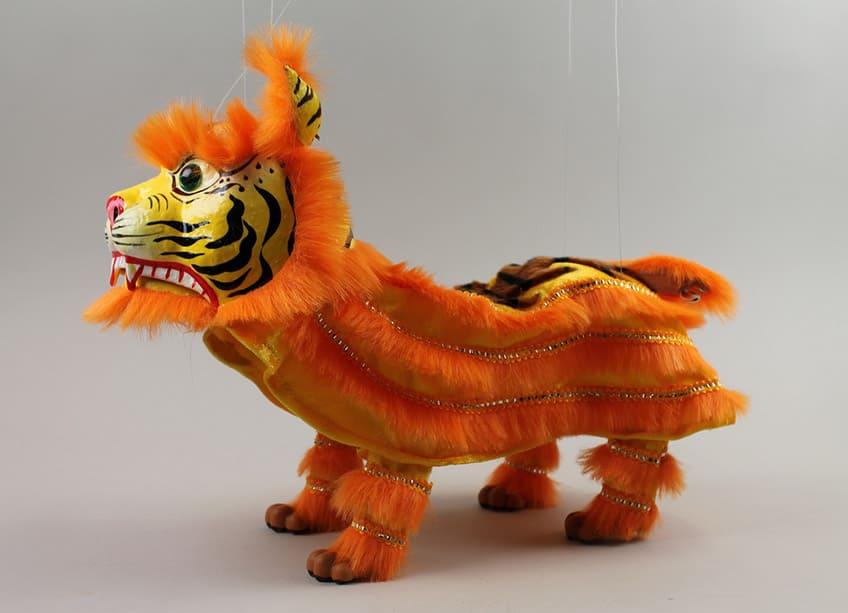 orange tiger marionette