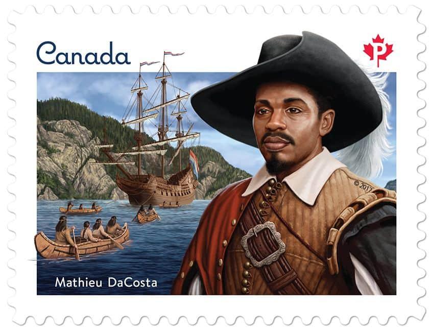 Canada Post stamp for Mathieu Da Costa