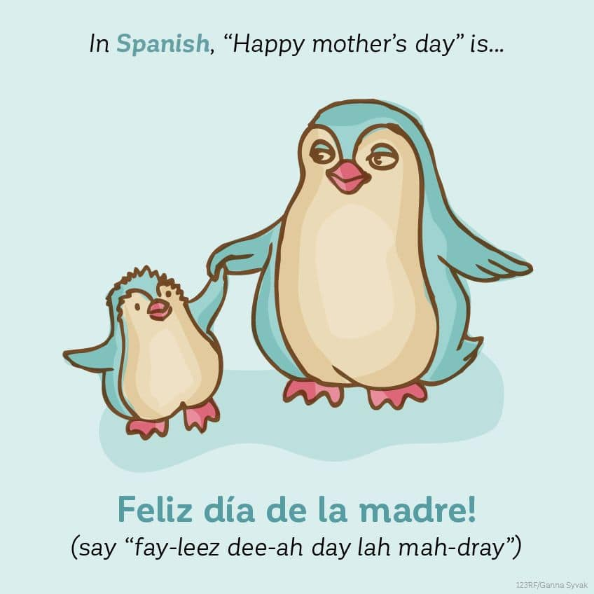In Spanish, Happy Mother's Day is