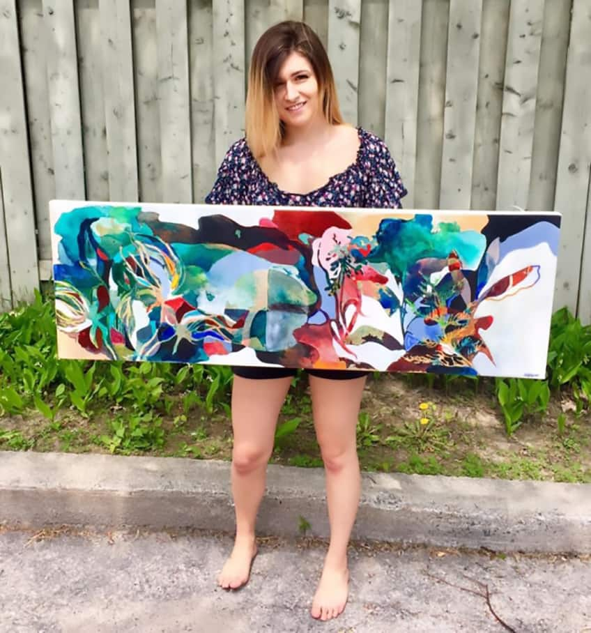 Kelly Duquette of the Métis Nation of Ontario, is a 22-year-old artist and student specializing in Indigenous law.