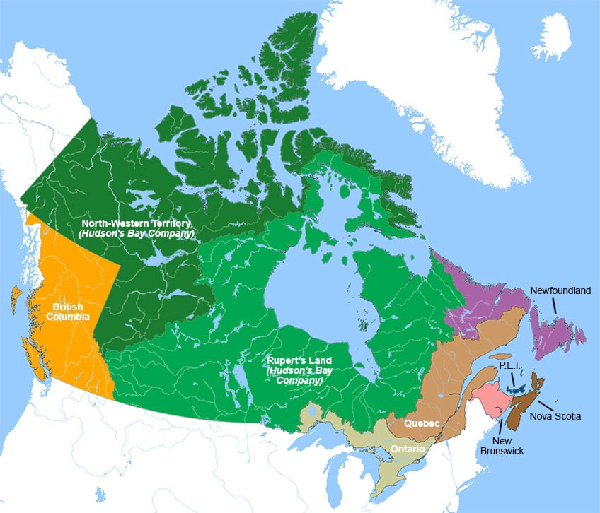 Small Map Of Canada.How Did Canada Become A Country Explore Awesome Activities