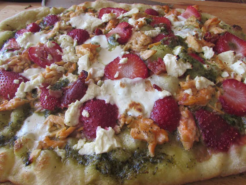 strawberry salmon pizza