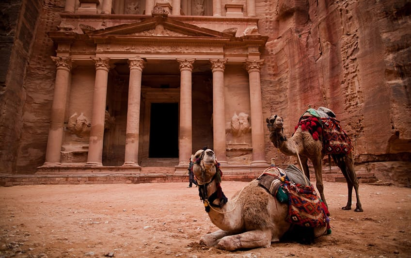 The city of Petra in old Babylon