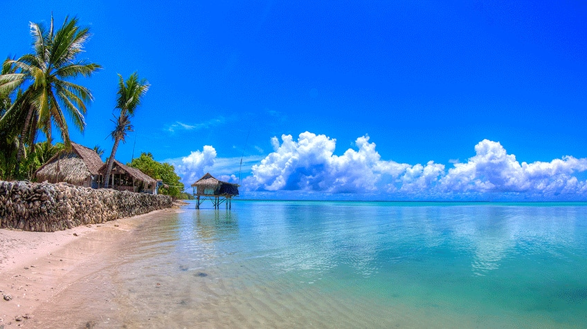 A beach on the island of Kiribati