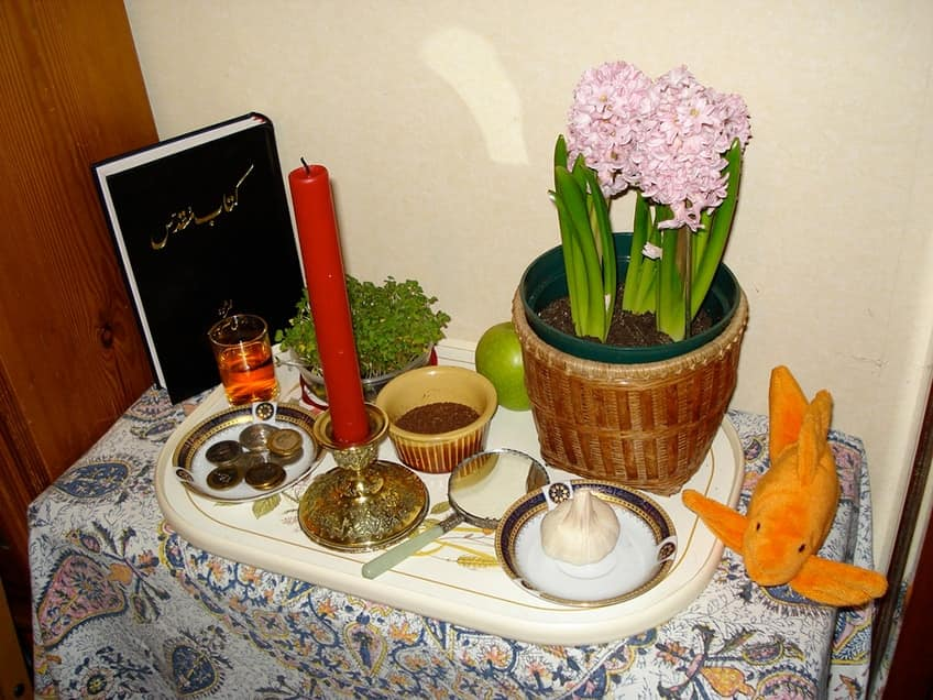 a traditional Nowruz table