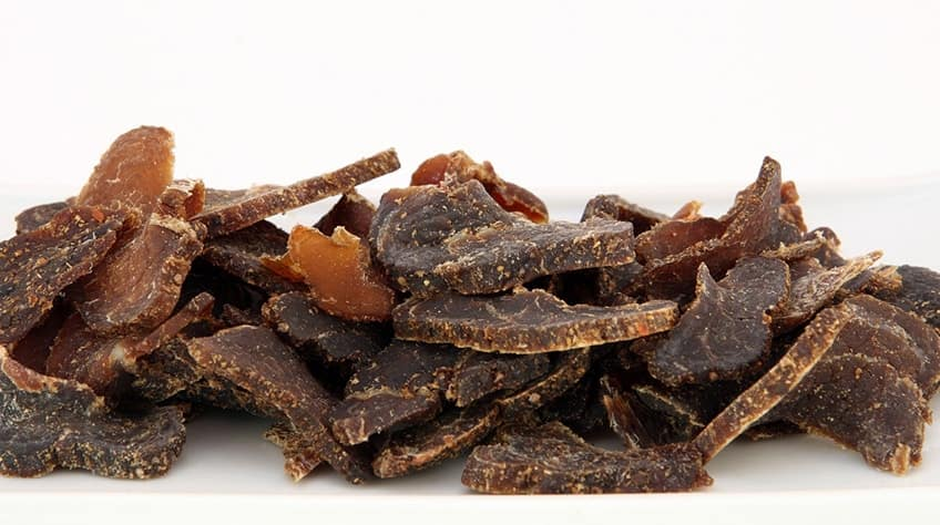 a pile of South African cured jerky-like meat snack