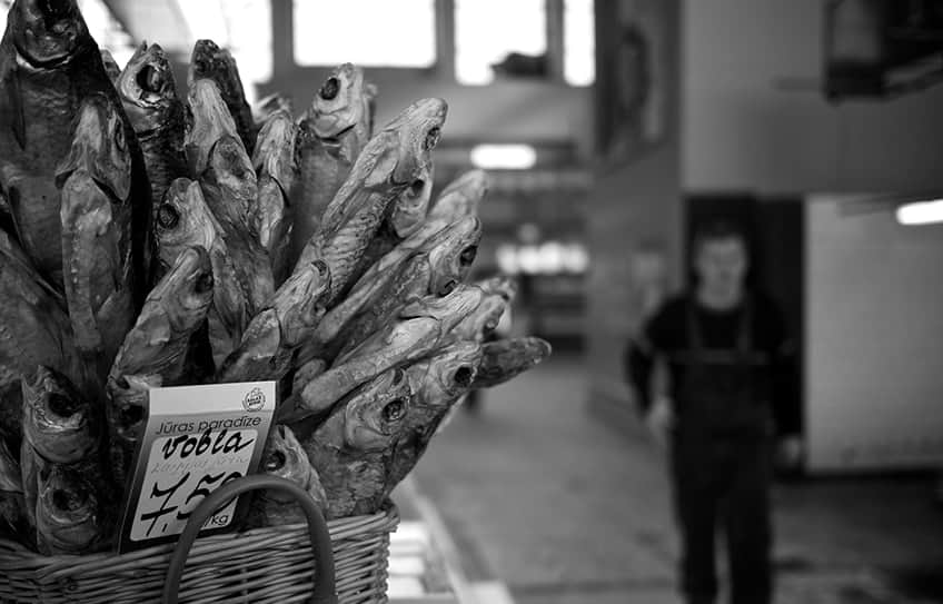 a basket of Russian dried fish snacks