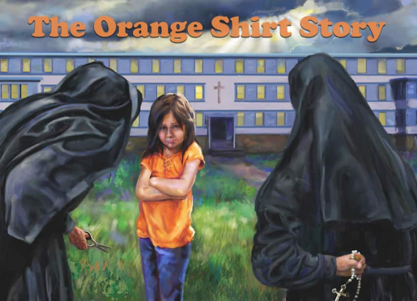 cover of Phyllis Webstad's book The Orange Shirt Story
