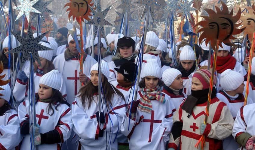 Alilo Christmas procession in Tbilisi, Georgia
